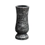 Grabvase Steel grey