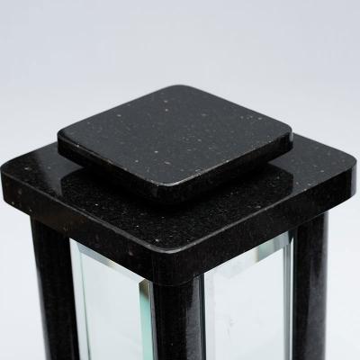 Grablampe modern aus Granit Star galaxy - Granitvasen