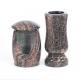 Grablaterne - Grabvase - Set aus Granit Himalaya