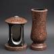 Laterne - Vase Granit Imperial rot