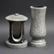 Laterne - Vase Granit Kuru grey